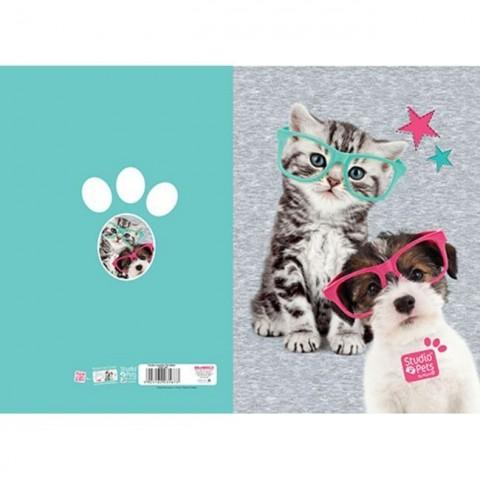 Teczka z gumką Studio Pets - kotek i piesek