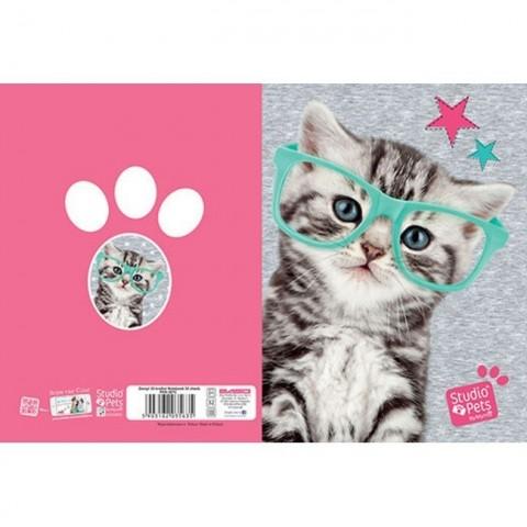 Zeszyt 32kart. kratka Studio Pets - kotek i piesek