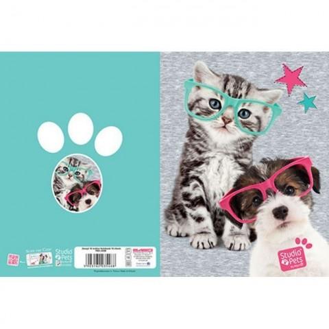 Zeszyt 16kart. kratka Studio Pets - kotek i piesek