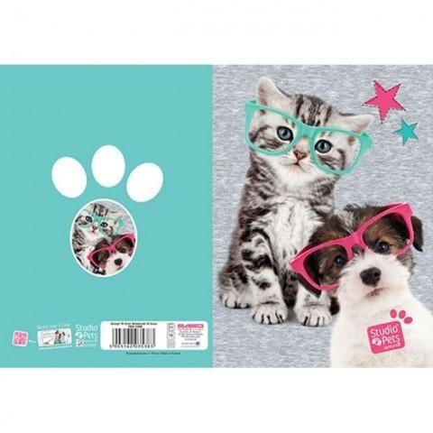 Zeszyt 16kart. linie Studio Pets - kotek i piesek