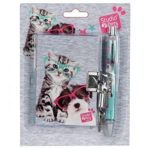 Zestaw z pamiętnikiem Studio Pets - kotek i piesek