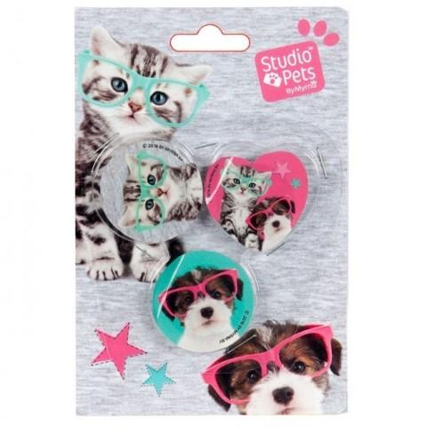Zestaw gumek Studio Pets - kotek i piesek