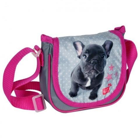 Mała torebka na ramię z klapką Studio Pets - Buldog francuski