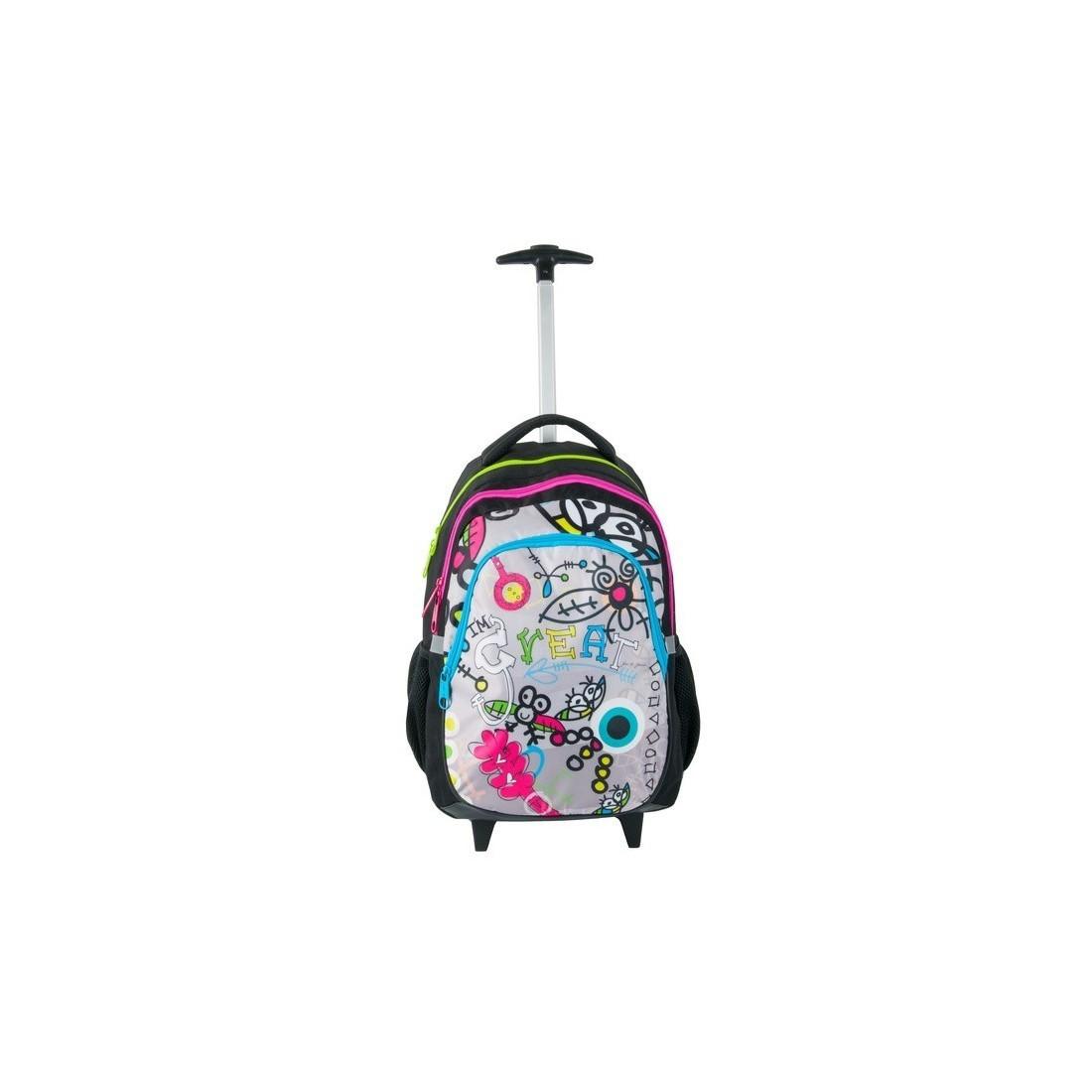Plecak na kółkach Dream Big - Great - kolorowe zamki