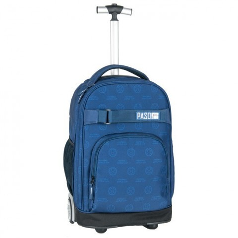 Plecak na kółkach Paso Unique Dark Blue - niebieski football