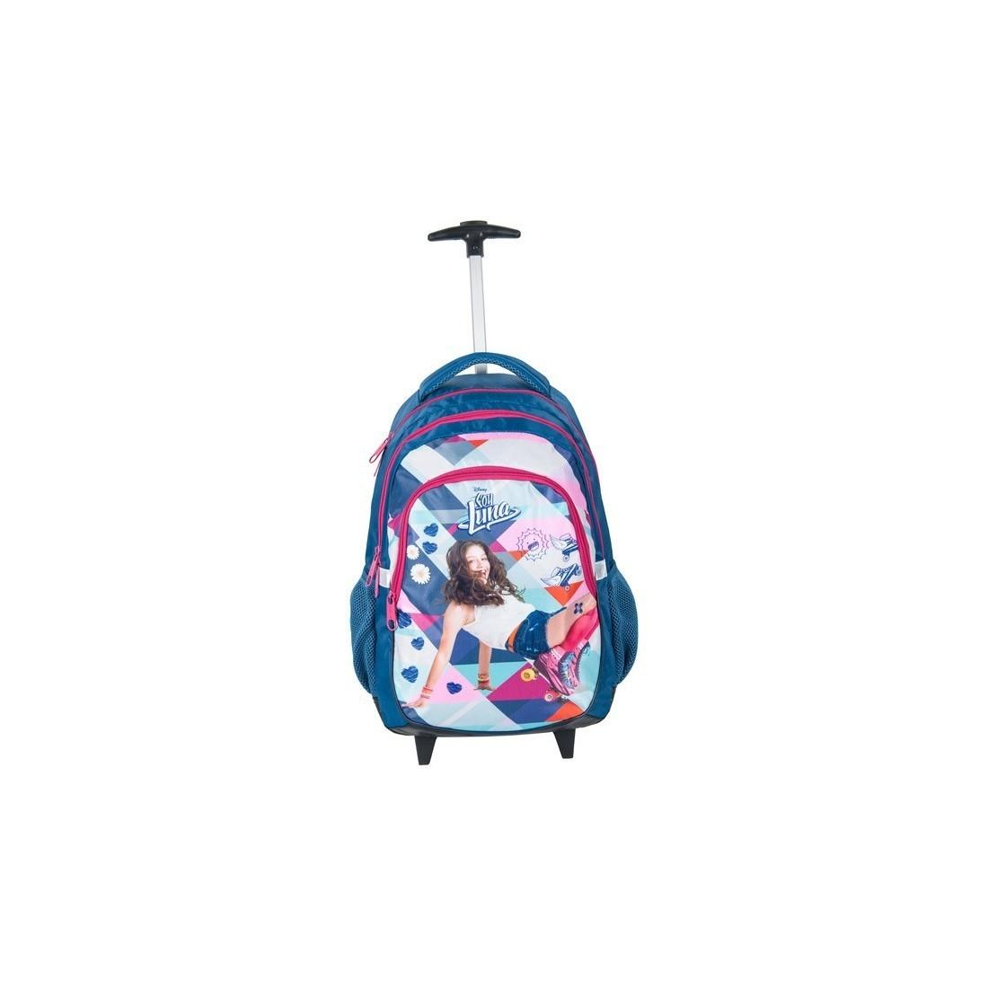 Plecak na kółkach Soy Luna - niebiesko-różowy