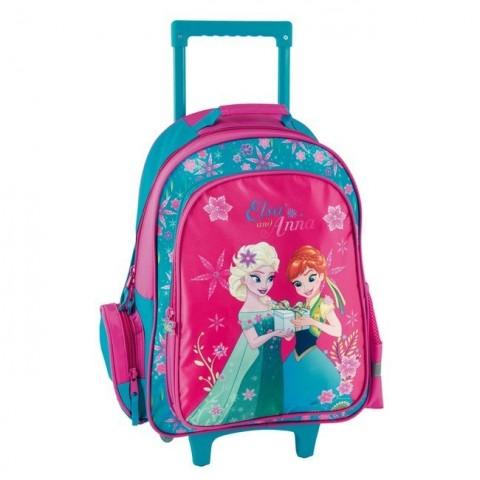 Plecak na kółkach Frozen Kraina Lodu Anna i Elsa - różowy