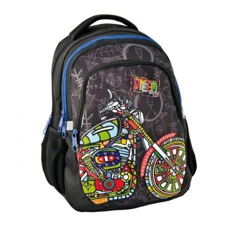 Plecak młodzieżowy Dream Big czarny - motor
