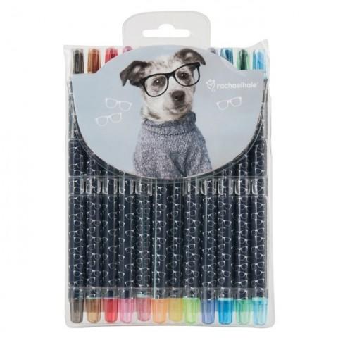 Zestaw kredek Studio Pet's pies w okularach