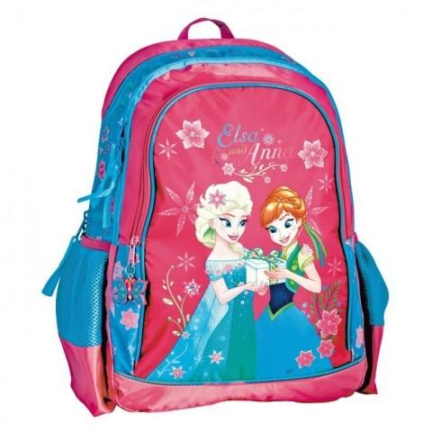 Plecak szkolny Frozen - Anna i Elsa różowy