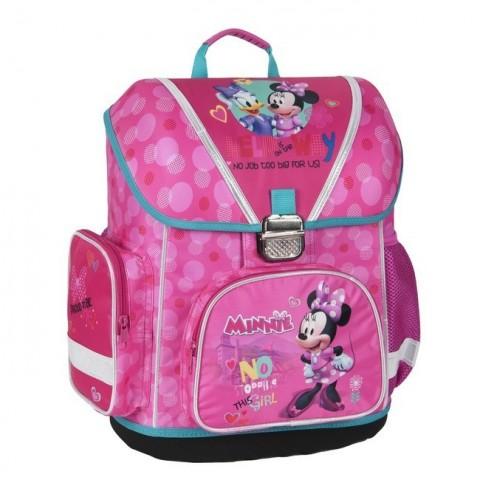 Tornister szkolny Minnie - No stopping this girl różowy