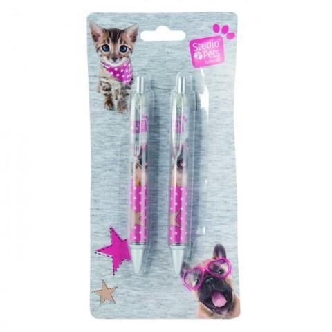 Zestaw długopisów Studio Pet's z psem i kotem
