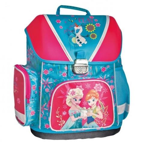 Tornister szkolny Frozen niebiesko czerwony - Anna i Elsa różowy