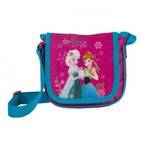 Torebka z klapką na ramię Frozen Kraina Lodu Anna i Elsa - różowa