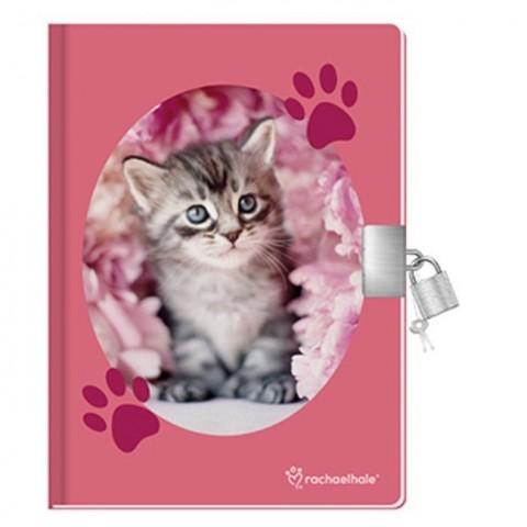 Pachnący pamiętnik Rachael Hale różowy z szarym kotkiem