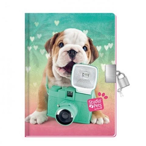 Pachnący pamiętnik Studio Pet's kolorowy buldogiem