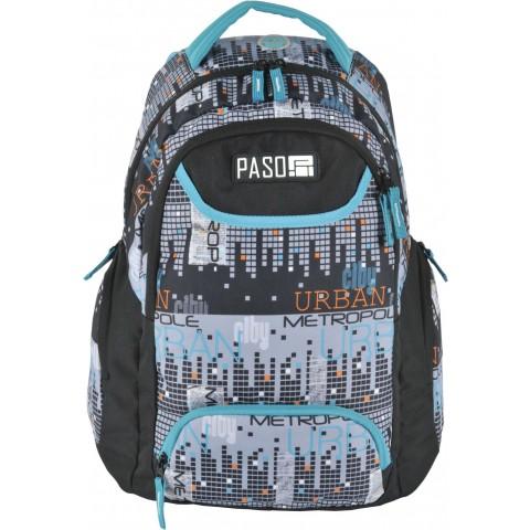 Plecak młodzieżowy Paso Unique City miasto piksele