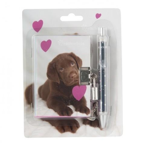 Zestaw z pamiętnikiem Rachael Hale brązowy labrador