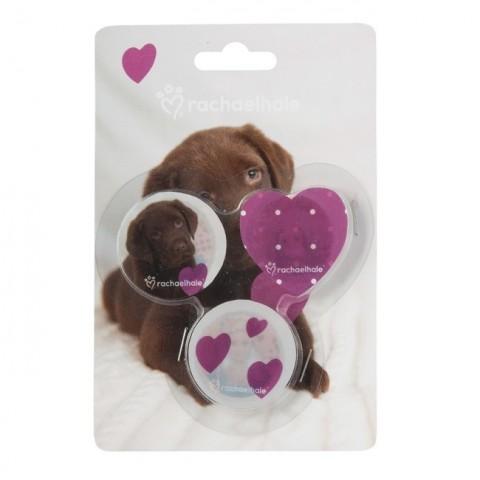 Zestaw gumek do mazania Rachael Hale brązowy labrador