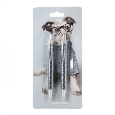 Zestaw długopisów Rachael Hale piesek w okularach