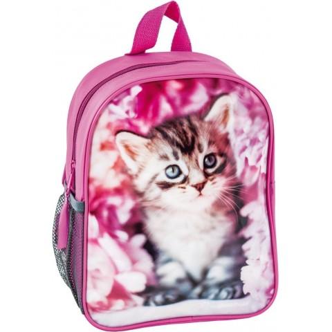 Plecaczek Rachael Hale różowy z szarym kotkiem