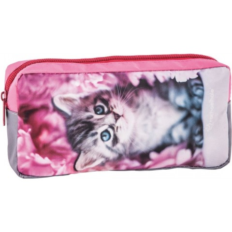 Saszetka Rachael Hale różowa z szarym kotkiem