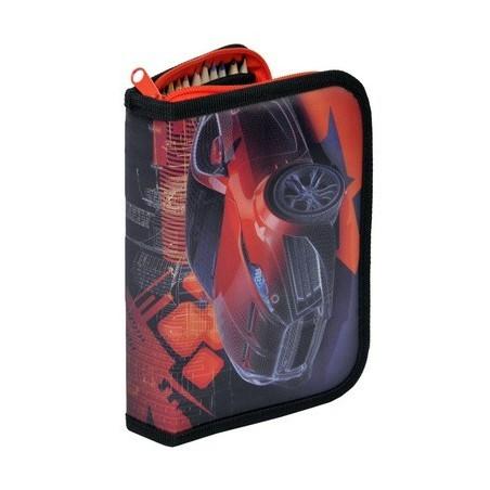 Piórnik z Wyposażeniem Samochód Czerwony