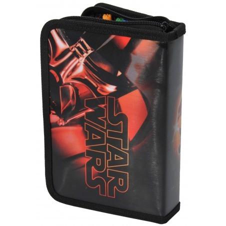 Piórnik z wyposażeniem Star Wars czarno-czerwony