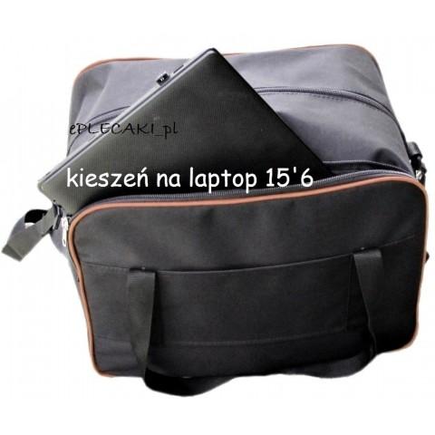 Torba - mały bagaż podręczny Wizzair + kieszeń na laptop - pomarańczowa