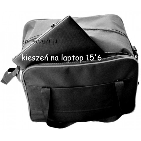 Torba - mały bagaż podręczny Wizzair + kieszeń na laptop - szara