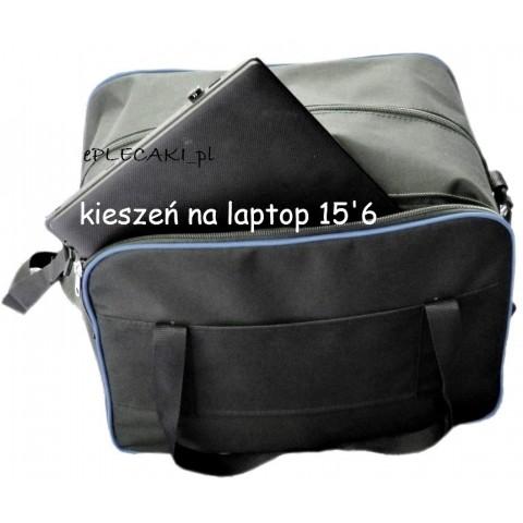 Torba - mały bagaż podręczny Wizzair + kieszeń na laptop - niebieska