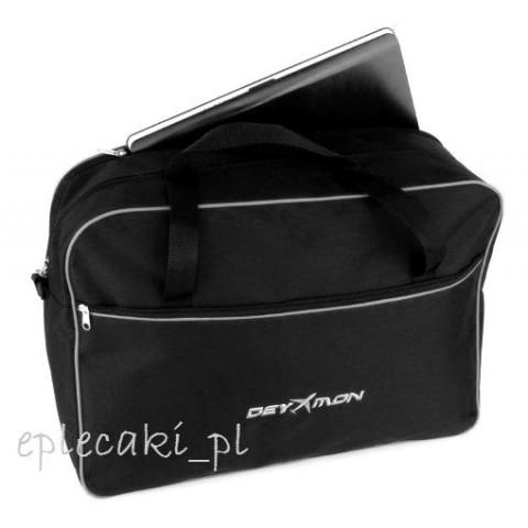 Torba - bagaż podręczny Ryanair 55x40x20cm + kieszeń na leptop - szara lamówka