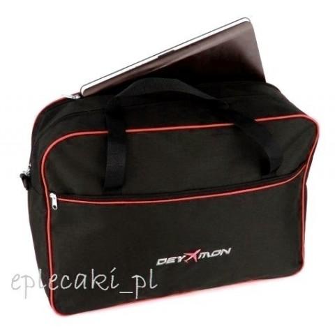 Torba - bagaż podręczny Ryanair 55x40x20cm + kieszeń na leptop - czerwona lamówka