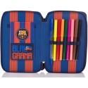 Piórnik dwukomorowy z wyposażeniem FC Barcelona FC-144 dla kibica
