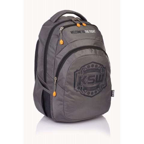 Plecak młodzieżowy KSW szary KS-02