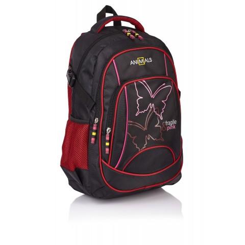 Plecak młodzieżowy ANIMALS Fragile&Pink MOTYL AN-15