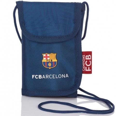 Portfel na szyję FC Barcelona granatowy FC-157 dla kibica
