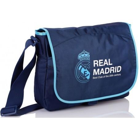 Torba na ramię listonoszka Real Madryt granatowa RM-91 dla kibica
