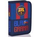 Piórnik dwuklapkowy z wyposażeniem FC Barcelona FC-142 dla kibica