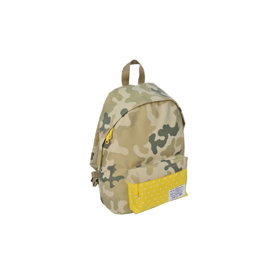 Plecak Młodzieżowy Moro Khaki Zółty w kropki