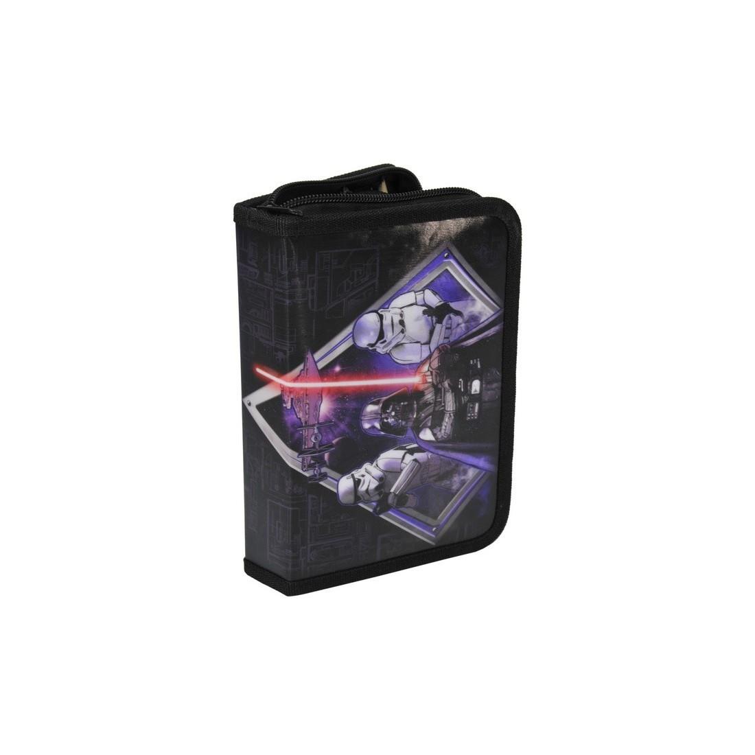 Piórnik z wyposażeniem Star Wars czarno-fioletowy