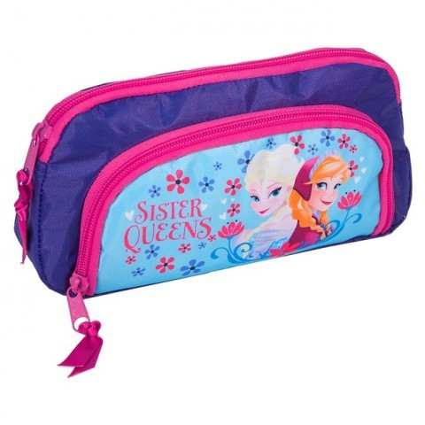 Piórnik szkolny Kraina Lodu Frozen niebieski Elsa i Anna