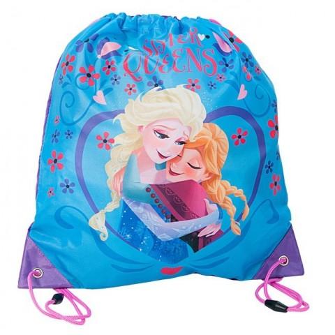 Worek Szkolny Kraina Lodu/ Frozen niebieski Elsa i Anna