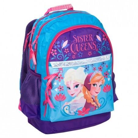 Plecak Szkolny Kraina Lodu/ Frozen niebieski Elsa i Anna