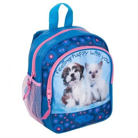 Plecaczek Rachael Hale niebieski z pieskiem i kotkiem