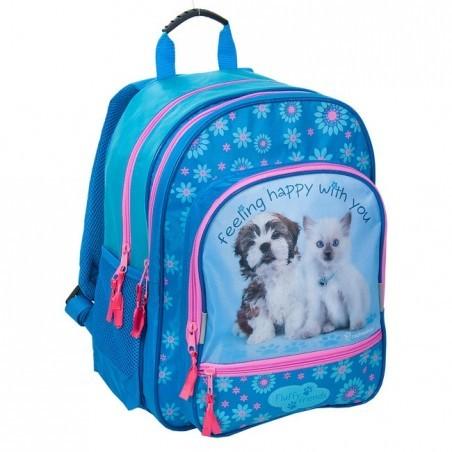 Plecak Rachael Hale niebieski z pieskiem i kotkiem