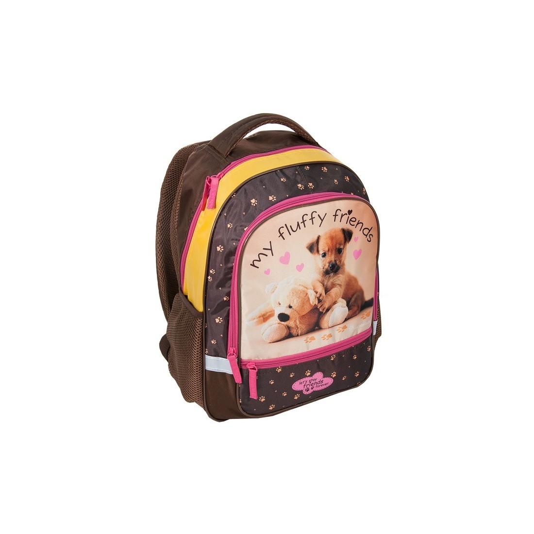Plecak Szkolny Rachael Hale brązowy z pieskiem
