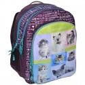 Plecak szkolny Rachael Hale fioletowy z psami