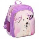 Plecak szkolny Rachael Hale różowy z psem