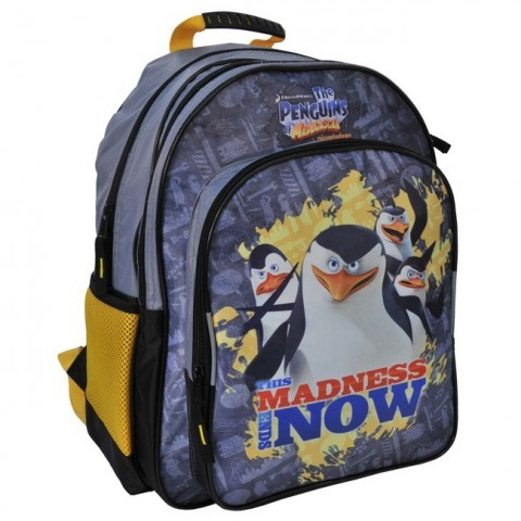 Plecak szkolny Pingwiny z Madagaskaru madness